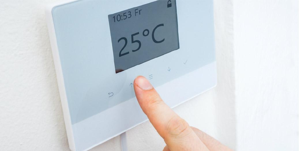 Chauffage : thermostat d'ambiance, radiateur, chauffage au sol